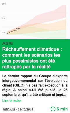 Science rechauffement climatique comment les scenarios les plus pessimistes ont ete rattrapes par la realite