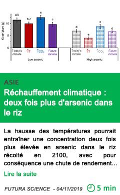 Science rechauffement climatique deux fois plus d arsenic dans le riz