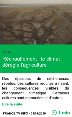 Science rechauffement le climat deregle l agriculture page001