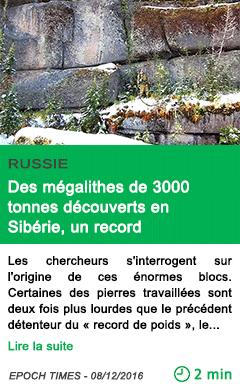 Science russie des megalithes de 3000 tonnes decouverts en siberie un record