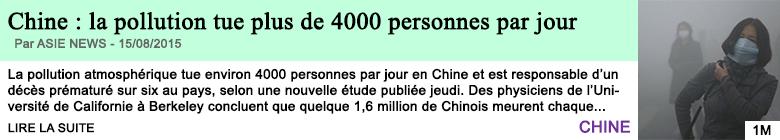 Science sante chine la pollution tue plus de 4000 personnes par jour