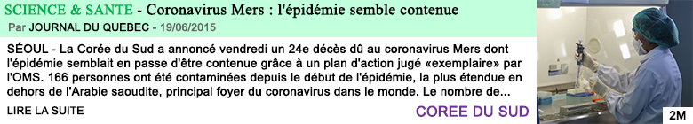 Science sante coronavirus mers l epidemie semble contenue 2
