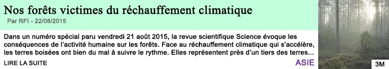 Science sante nos forets victimes du rechauffement climatique
