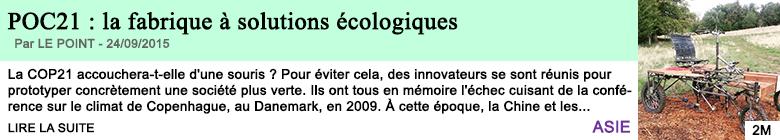 Science sante poc21 la fabrique a solutions ecologiques
