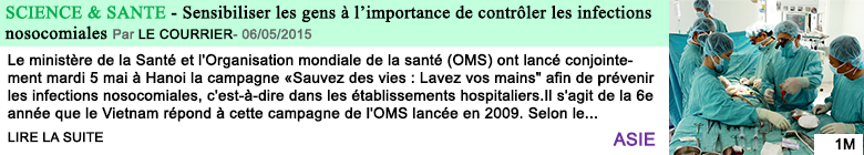 Science sante sensibiliser les gens a l importance de controler les infections nosocomiales