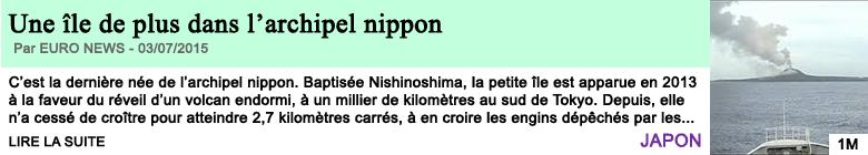 Science sante une ile de plus dans l archipel nippon