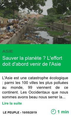 Science sauver la planete l effort doit d abord venir de l asie page001