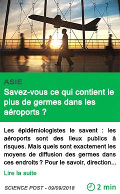 Science savez vous ce qui contient le plus de germes dans les aeroports