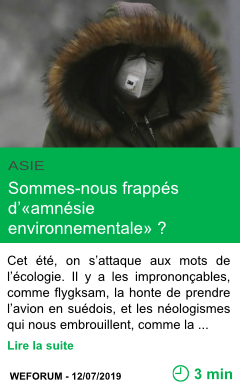 Science sommes nous frappes d amnesie environnementale page001
