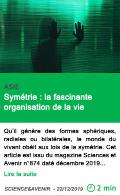 Science symetrie la fascinante organisation de la vie