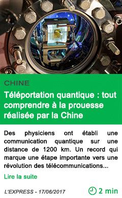 Science teleportation quantique tout comprendre a la prouesse realisee par la chine