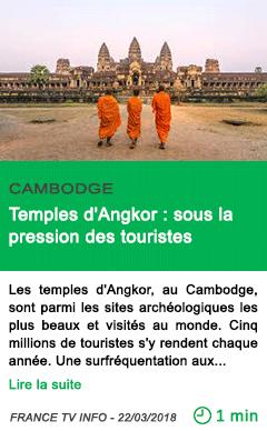 Science temples d angkor sous la pression des touristes
