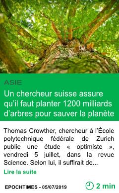 Science un chercheur suisse assure qu il faut planter 1200 milliards d arbres pour sauver la planete page001
