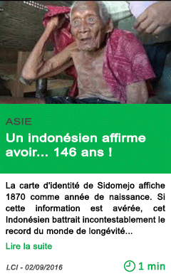 Science un indonesien affirme avoir