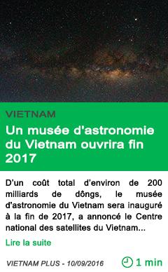 Science un musee d astronomie du vietnam ouvrira fin 2017