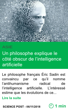 Science un philosophe explique le cote obscur de l intelligence artificielle page001