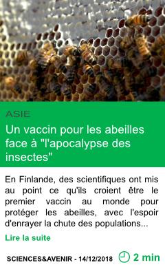 Science un vaccin pour les abeilles face a l apocalypse des insectes page001