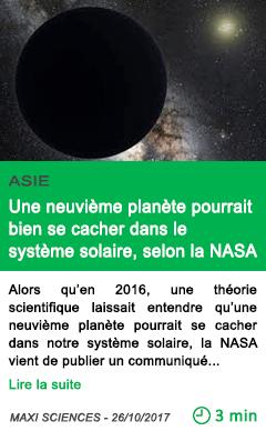 Science une neuvieme planete pourrait bien se cacher dans le systeme solaire selon la nasa