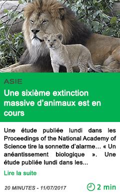 Science une sixieme extinction massive d animaux est en cours