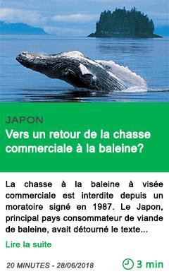 Science vers un retour de la chasse commerciale a la baleine