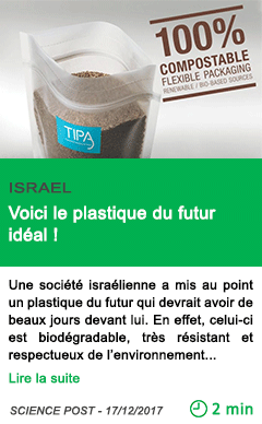 Science voici le plastique du futur ideal