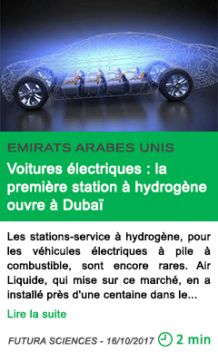 Science voitures electriques la premiere station a hydrogene ouvre a dubai