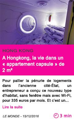 Societe a hongkong la vie dans un appartement capsule de 2 m