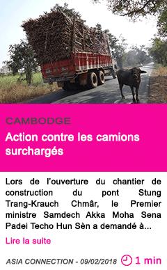 Societe action contre les camions surcharges