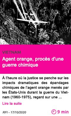 Societe agent orange proce s d une guerre chimique