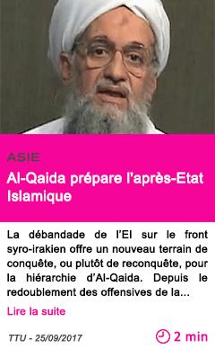 Societe al qaida prepare l apres etat islamique