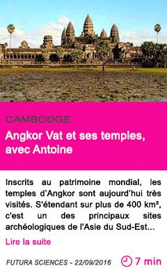 Societe angkor vat et ses temples avec antoine
