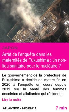 Societe arret de l enquete dans les maternites de fukushima un non lieu sanitaire pour le nucleaire page001