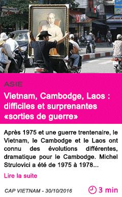 Societe asie vietnam cambodge laos difficiles et surprenantes sorties de guerre