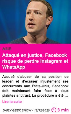 Societe attaque en justice facebook risque de perdre instagram et whatsapp