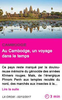 Societe au cambodge un voyage dans le temps