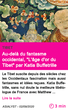 Societe au dela du fantasme occidental l age d or du tibet par katia buffetrille