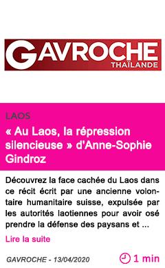 Societe au laos la repression silencieuse d anne sophie gindroz