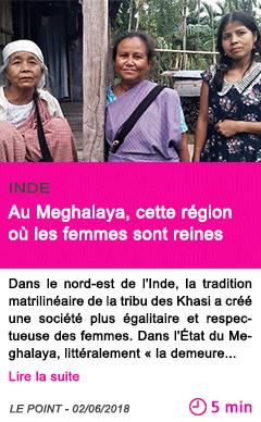 Societe au meghalaya cette region ou les femmes sont reines