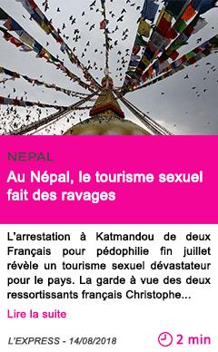 Societe au nepal le tourisme sexuel fait des ravages