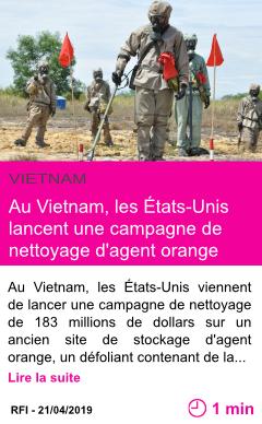 Societe au vietnam les etats unis lancent une campagne de nettoyage d agent orange page001