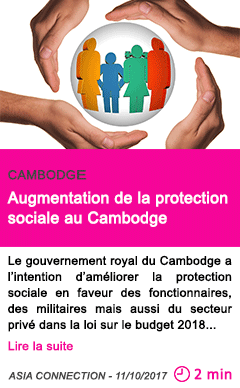 Societe augmentation de la protection sociale au cambodge
