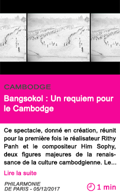 Societe bangsokol un requiem pour le cambodge