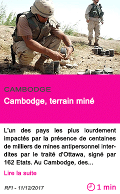 Societe cambodge terrain mine 1