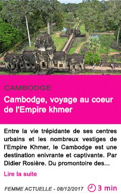 Societe cambodge voyage au coeur de l empire khmer