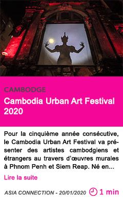 Societe cambodia urban art festival 2020