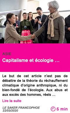 Societe capitalisme et ecologie