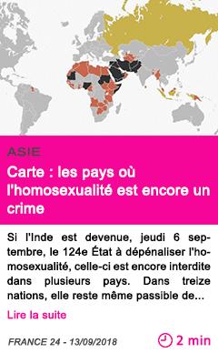 Societe carte les pays ou l homosexualite est encore un crime