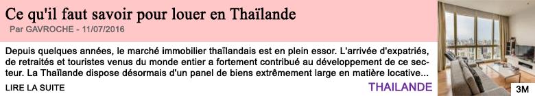 Societe ce qu il faut savoir pour louer en thailande