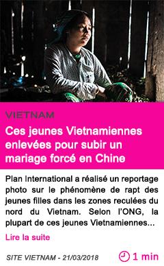 Societe ces jeunes vietnamiennes enlevees pour subir un mariage force en chine