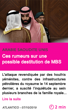 Societe ces rumeurs sur une possible destitution de mbs
